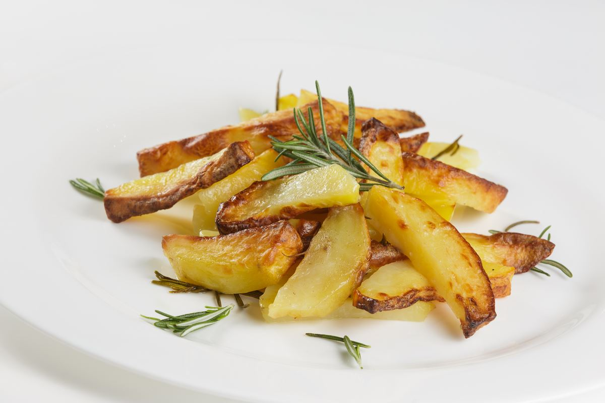 with rosemary -vegetarian dish